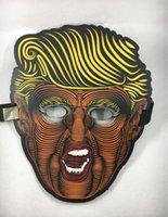 halbschablone schmetterling großhandel-USA Donald Trump 2020 Vollmasken Schmetterlingsform Glowing Party Halbmaske Fit Halloween Supplies MMA2273