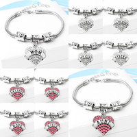 Wholesale mommy charms for sale - Group buy Heart Bracelet The Love Between Mother And Daughter Is Forever Charm Bracelet Women Mommy Mama Mom Family Bracelet
