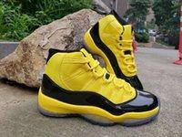 ingrosso b ossa-Cheap 11s 11 scarpe da basket uomo giallo rosa pelle di serpente osseo donna 11s Prem HC alta 45 snakeskin scarpe sportive taglia 36-47