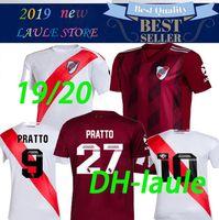 ingrosso vendite camicia da calcio-2020 River Plate home bianco Soccer Jersey River Plate via nero G.MARTINEZ QUINTERO PRATTOSoccer Shirt 19/20 riverbed Football Uniform Vendita
