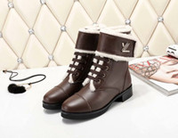 Wholesale leather boots fur lining for sale - Group buy Ting2594 Lining Neckline Lambskin Booties Riding Rain Boot Boots Booties Sneakers Dress Shoes