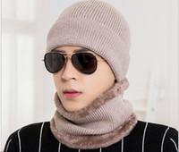 Wholesale men tie sets sale resale online - New imported wool light version of men s hats fashion fw warm knit hat set manufacturers direct sales