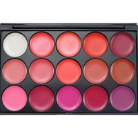paleta 15 lábios venda por atacado-Alta Qualidade 15 Cores Lip Gloss Batom Paleta de Maquiagem Nude Paleta de Batom Fosco Lipgloss Lábios Lip Pigment Lip Palette # L15-2