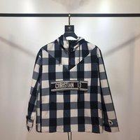 kapuzenjacke mit kapuze großhandel-Ts karierte Jacke Luxus Street Fashion heißer Verkauf Mens Designer Womens Paare hochwertige Kapuzenpullover schwarz blau rot tsyswy160