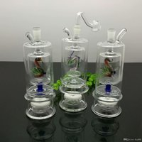 Wholesale bong mute resale online - Classic Duckling Double deck Separator Glass Mute Filtration Water Tobacco Bottle Bongs Oil Burner Pipes Water Pipes Glass Pipe Oi