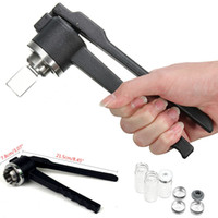 Wholesale 20mm A Stainless Steel Manual Vial Crimper Hand Sealing Crimping Machine Flip Off Caps Bottle Gland Clamp With Glass Vials