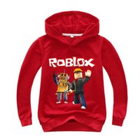 erkek çocuklar kırmızı sweatshirt toptan satış-Roblox Hoodies Gömlek Boys Için Kazak Kırmızı Noze Gün Kostüm Çocuk Çocuklar Için Spor Gömlek Kazak Uzun Kollu T-shirt RO2 Tops