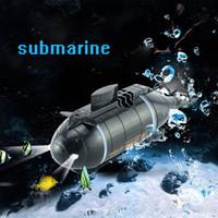 rc barcos submarinos al por mayor-RC Submarino Mini RC Submarino 777-216 Pigboat Modelo 40 MHz Control Remoto Barco de Juguete de Regalo