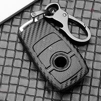 Black Carbon Fiber Smart Car Key Case Fit for Mercedes-Benz New A C S CLS Class