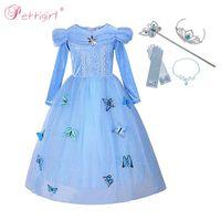 ingrosso fantasie cosplay-Pettigirl Cinderella Girl Dress Butterfly Cosplay Pageant Dress Fantasia Abiti per Halloween BirthdayG-NBGD1009-2908