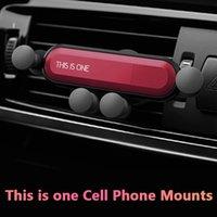 ingrosso porta telefono in vendita-Supporto del supporto del telefono del supporto dello sfiato di 200pcs questo è un sostegno di rilevamento di gravità Vendita calda