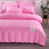 Wholesale children quilt set resale online - Designer Bedding Set Modal Cotton Bed Four piece Quilt Cover Sheet Bedding Set Home Supplies