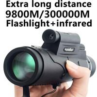 telescópios de distância venda por atacado-Extra Longa 9800 M / 300000 M Bússola Lanterna infravermelha Distância Visão Noturna de Alto Ângulo Telescópio Monocular Laser Telescópio Portátil Ao Ar Livre
