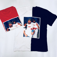 Wholesale photo print shirts resale online - Suprene Fashion T shirt Raekwon Photo Tee SS Early Generation Box Short Sleeve Fat Bodyguard T shirt tee color Black White Red Siz