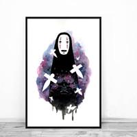 gesicht malerei für kinder großhandel-Kein Gesicht und Chihiro Poster Spirited Away Print Bild modulare Gemälde für Wohnzimmer an der Wand nach Hause Kinderzimmer Dekor