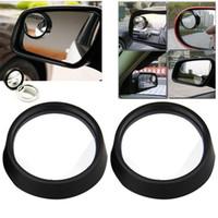 ingrosso retrovisori laterali auto grandangolare-Delle spese di spedizione Angle DHL 2PCS Car Rear View Mirror Auto Car regolabile laterale retrovisore Blind Spot