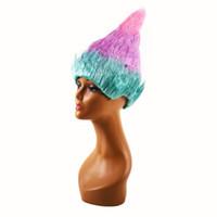 perruques d'halloween achat en gros de-Trolls perruque de pavot pour enfants mode adulte perruques de flamme Festival de Noël Halloween Troll Section perruques Cosplay