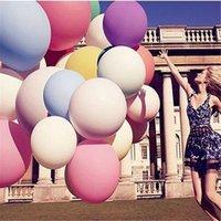 kaki parfait achat en gros de-10 pcs 36 pouces Mix Couleur Macaron Latex Ballons De Mariage Fête D'anniversaire Décoration Big Air Hélium Épais Ballons Parfait Cercle