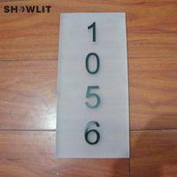 numara plakaları yap toptan satış-6 '' * 12 '' Özel Yapılmış Ev Numarası Akrilik Kapı Plakası