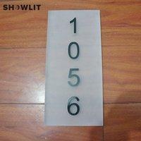 plaques d'immatriculation acrylique achat en gros de-Plaques de porte en acrylique, Numéro de maison sur mesure, 6 '' * 12 ''
