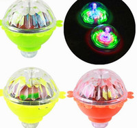 Wholesale glow spinning toy resale online - Kids Lighting Toys LED Gyro Light Glow Gyro Toys Friction Tops Spinning Tops of Children Kid Toys Gift LLFA