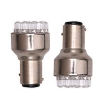 ingrosso 1157 lampadine a led-Riflettore della lampadina di svolta freno 2 pezzi / set 1157 BAY 15D DC 12V bianco Auto 12x LED Car 6000-8000K EEA330