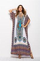 große frauen mode kleidung großhandel-Großverkauf plus Größenfrauen, die südamerikanische Artfrauen kleiden, beiläufiges loses Robenkleid große vestidoes