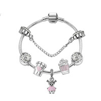 Wholesale christmas angels gifts for sale - Group buy 17 CM Charm Beads Bracelets Pandora Style Bracelet sweet cute girl Pendant Silver Bracelet DIY Jewelry as a gift