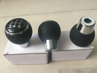 кожаный редуктор оптовых-Кожа Ручная 5 Скорость переключения передач Ручка рычага переключения передач для Mitsubishi Lancer EX / EVO / GTS ASX V3 V5 V6