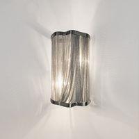 aplique al por mayor-Cadena de aluminio moderna lámpara de pared lámpara de pared lámpara de pared soporte para pasillo Pasillo Porche luminaria Apliques de plata luces