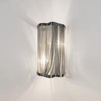 wandhalterungen leuchten großhandel-Moderne kette leuchte aluminium kette wandleuchte wandhalterung für gang flur veranda leuchte silber wandleuchten lichter
