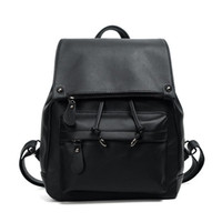 Wholesale large back packs for sale - Group buy New Fashion Leather Backpack Retro Girls Shoulder Bag Female PU Leather Simple Students Candy Fruit Backpacks High Quality Women Back Pack