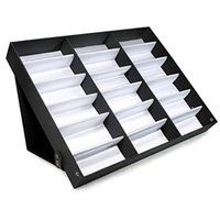Wholesale 18 Sunglasses Organizer Eyewear Display Storage Case Trayb Storage Holders Racks