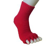 пальцевые носки для мужчин оптовых-Высокие мужчины женщины спят Здоровье Уход за ногами массаж носки ног пять пальцев ног лечение сжатия йога носки DOG88