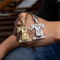 joyas de titanio hip hop al por mayor-Prisoner Letter Collar Hip Hop Street Dance Joyas para hombres y mujeres Outdoor Nightclub Party Designer Colgante Acero de titanio