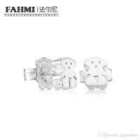 Wholesale jewelry studs spikes resale online - FAHMI Sterling Silver Stud Earrings Sweet and Elegant Bear Original Women s Fashion Simple Jewelry