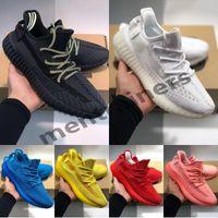zapatillas de colores al por mayor-Adidas Yeezy Boost 350 V2 Kanye West Zapatos para correr Zebra Negro Criado Semi Congelado Amarillo Para Hombre Diseñador de Mujer Zapatillas de deporte Entrenadores 36-46