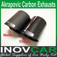 tubo de escape akrapovic al por mayor-Akrapovic mate o brillante de la cubierta de carbono del tubo de escape del silenciador Consejos para Caso de carbono, Akrapovic Escapes Shell tubería