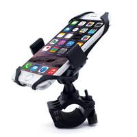 kauçuk cep telefonu standı toptan satış-Evrensel Ayarlanabilir Bisiklet Cep Telefonu Tutucu Cradle Standı Motosiklet Montaj telefonu GPS Kayış Ile GPS Navigasyon 360 Derece Rotasyon