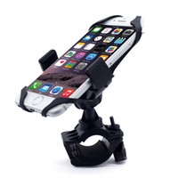suporte de celular de borracha venda por atacado-Universal Ajustável Suporte de Telefone Celular de Bicicleta Suporte Do Berço Da Motocicleta de Montagem de telefone de Navegação GPS de 360 Graus de Rotação Com Cinta De Borracha