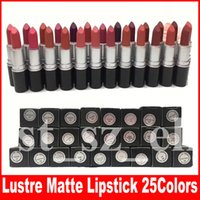 Wholesale english lipsticks resale online - M Makeup Luster Frost Lipstick Matte Lipstick g lipstick with english name colors DHL