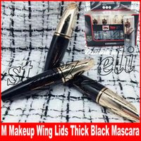 ingrosso ciglia alato-M trucco False Lash Waterproof Wing Coperchi spessi Black Long Eyelashes Eye Eye Mascara