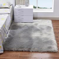 мягкие ковры для гостиной оптовых-Плюшевые мягкие лохматые ковры Alfombras для гостиной из искусственного меха 200 * 300 см большой коврик для спальни нескользящие коврики для дома