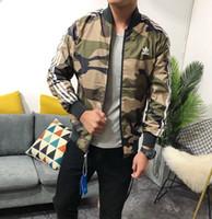 ingrosso uomini casual di giacca militare-Primavera Autunno Reversibile Giacche Uomo Military Airforce Bomber Pilot Reversible Jacket Capispalla da lavoro Camouflage Abbigliamento Reversibile