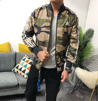 vestuário militar para homens venda por atacado-Primavera Outono Casacos Reversíveis Homens Militar Força Aérea Bombardeiro Piloto Reversível Jaqueta Outerwear Trabalho Camouflage Roupas Reversíveis