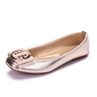 женщины плоские ботинки оптовых-2019 Женская мода Обувь на плоской подошве с квадратным носком из искусственной кожи Обувь для женщин Мокасины Женщина Балетки для девочек Симпатичные золотые туфли 42