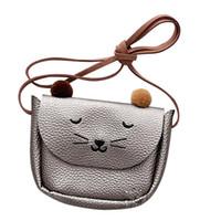 ingrosso borse frizione di gatto-Mini Borsa a tracolla Cute Cat Ear Messenger Bag Donna Bambini All-match Portamonete Key Cartoon Lovely Handbags Simple Girl Clutch Zk25