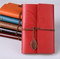 livros encadernados em couro venda por atacado-Atacado personalizado caderno criativo personalizado diário de viagem diário de humor caderno estudante folha solta folha retro notepad