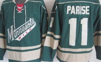 Wholesale red ice cream for sale - Group buy Fashion Retro Minnesota Wild Jerseys Zach Parise Green Cream Red High Quality Mens Stitched Throwback Hockey Jerseys