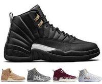 zapatos morados oscuros al por mayor-nuevo 12 12s zapatos de baloncesto para hombres Burdeos juego de la gripe gris oscuro The Master Taxi Playoffs French Blue Gamma Barons Zapatillas deportivas PSNY Purple Sport